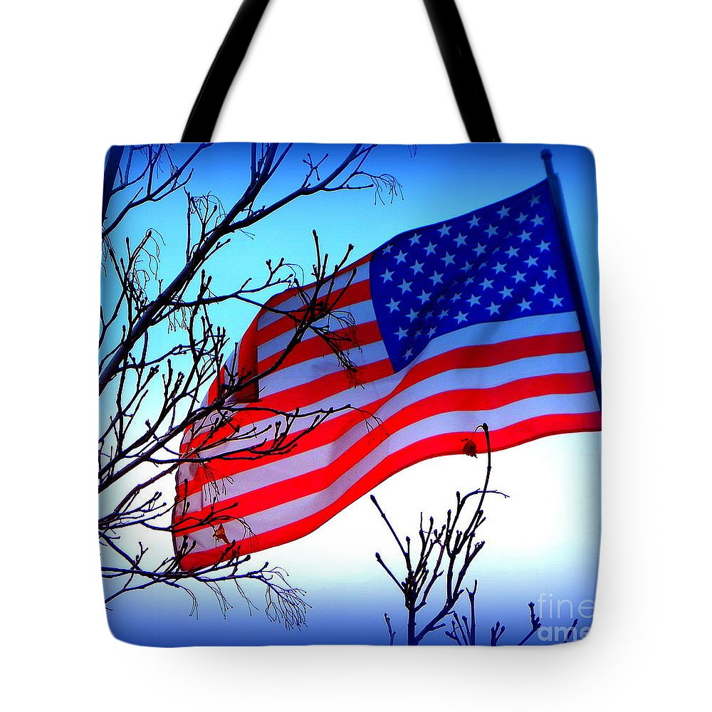 Acrylic Prints Tote Bag featuring the photograph Flying Ol Glory by Bobbee Rickard