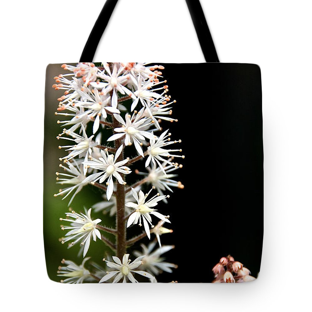 Flower Tote Bag featuring the photograph Foam Flower by Susan Herber