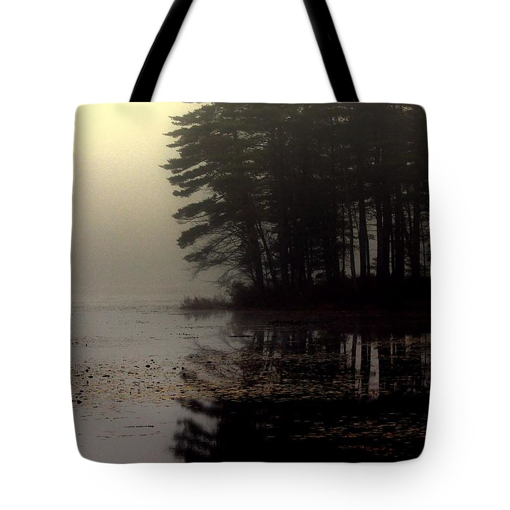 Fog Tote Bag featuring the photograph Foggy Bog Sunrise by Kenny Glotfelty