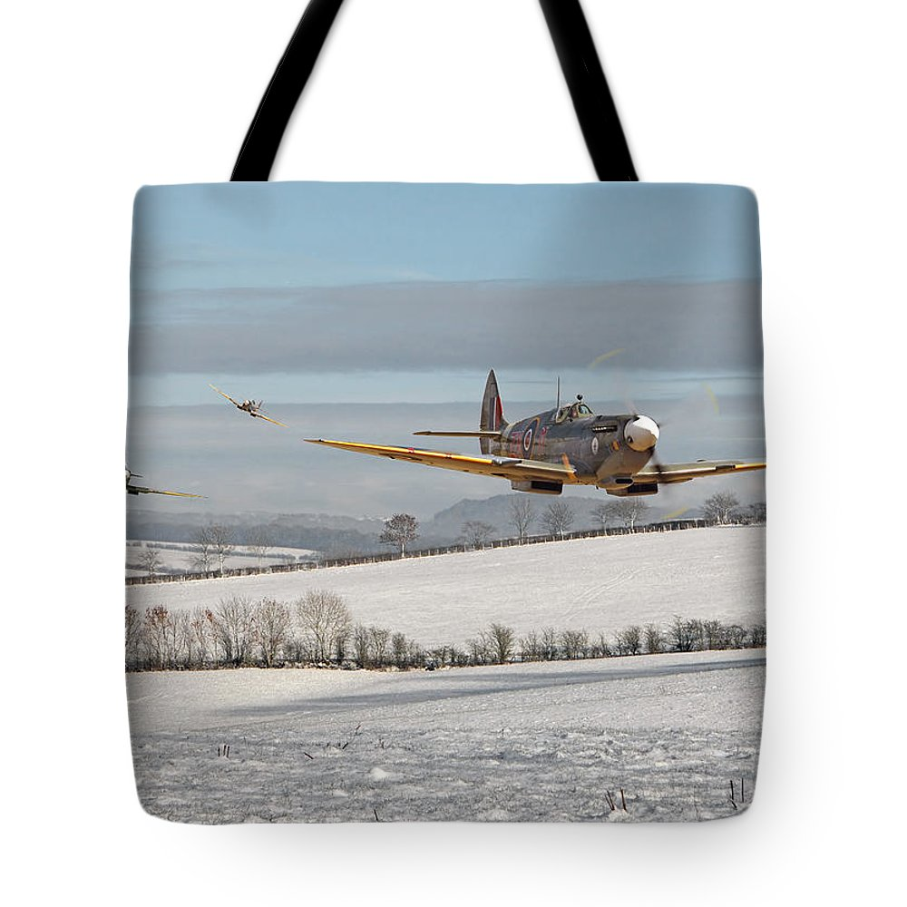Aircraft Tote Bag featuring the digital art Follow My Leader by Pat Speirs