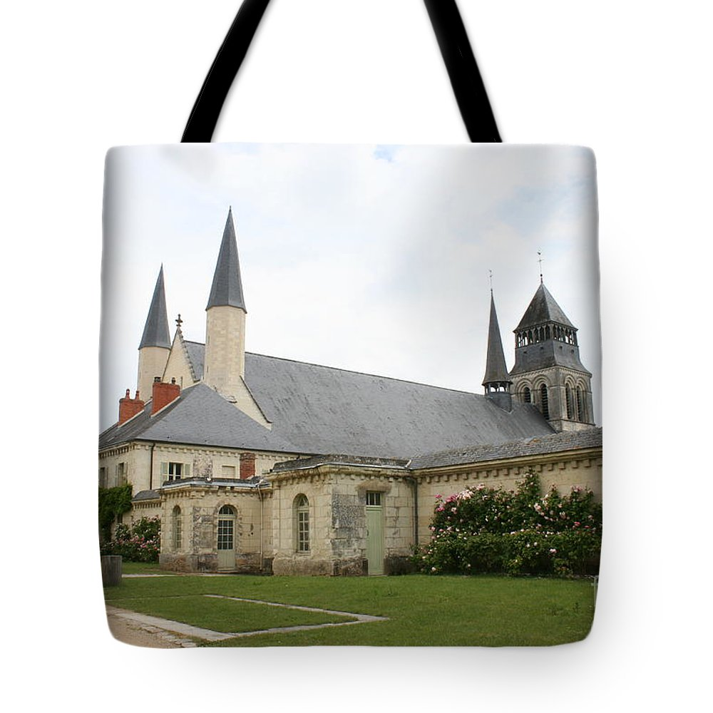 Cloister Tote Bag featuring the photograph Fontevraud Abbey - France by Christiane Schulze Art And Photography
