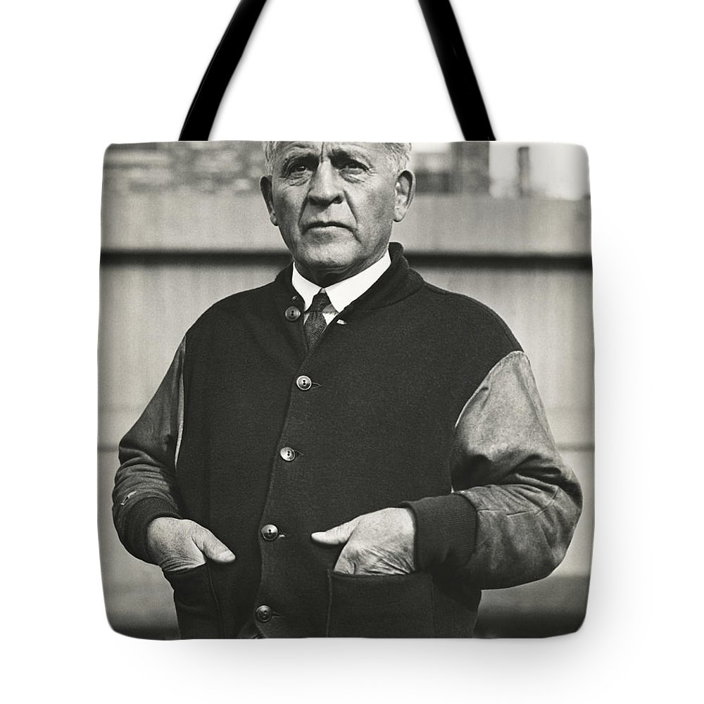 1 Person Tote Bag featuring the photograph Football Coach Alonzo Stagg by Underwood Archives