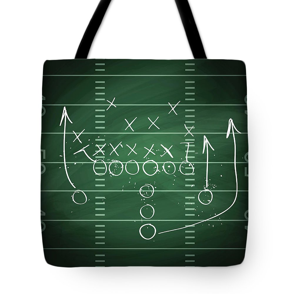 Plan Tote Bag featuring the digital art Football Play by Traffic analyzer
