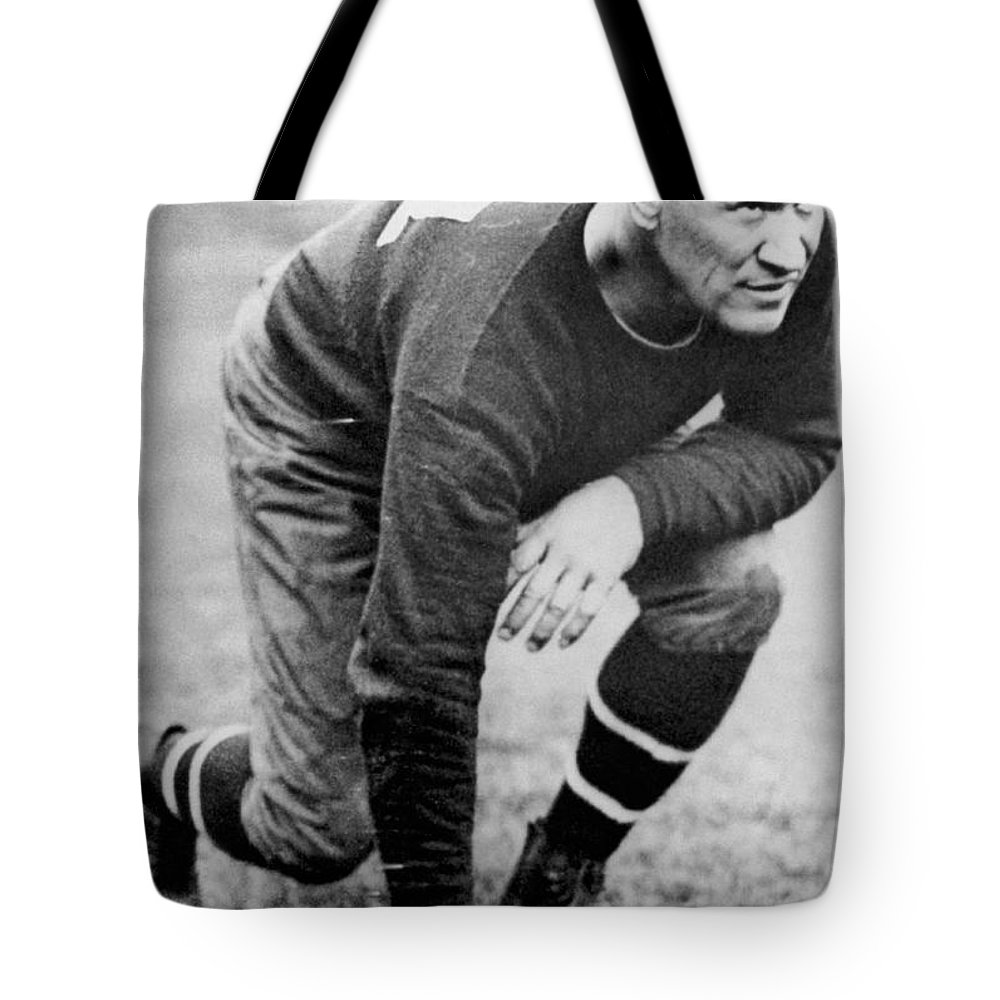 1920's Tote Bag featuring the photograph Football Player Jim Thorpe by Underwood Archives