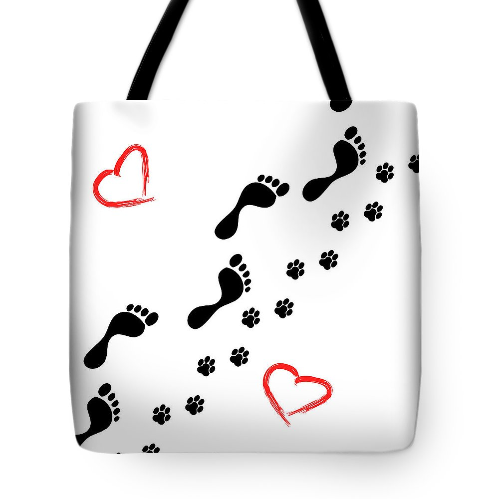 Walking Tote Bag featuring the photograph Sleep Walking The Dog by Diana Hughes