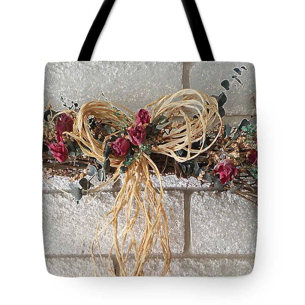 Home Tote Bag featuring the digital art For A Happy Home by Lovina Wright