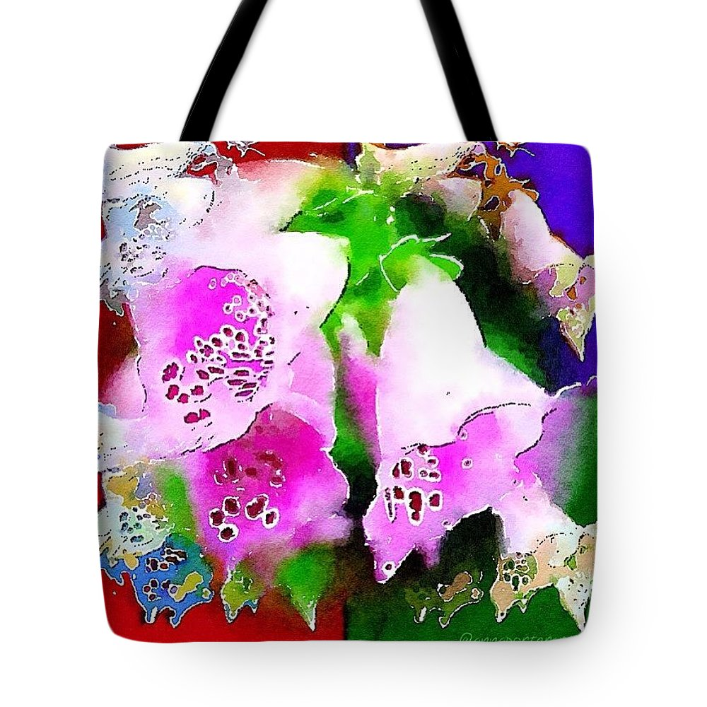 Flowers Tote Bag featuring the photograph Flowers for Andy by Anna Porter