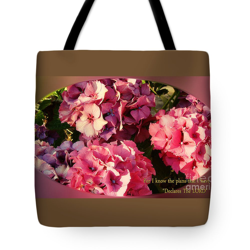 Floral Tote Bag featuring the photograph For I Know The Plans by Beverly Guilliams