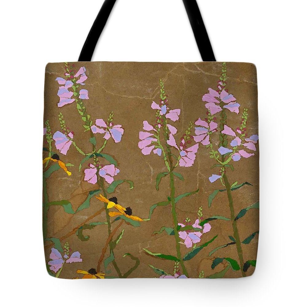 Floral Tote Bag featuring the painting For Jack From Woodstock by Leah Tomaino