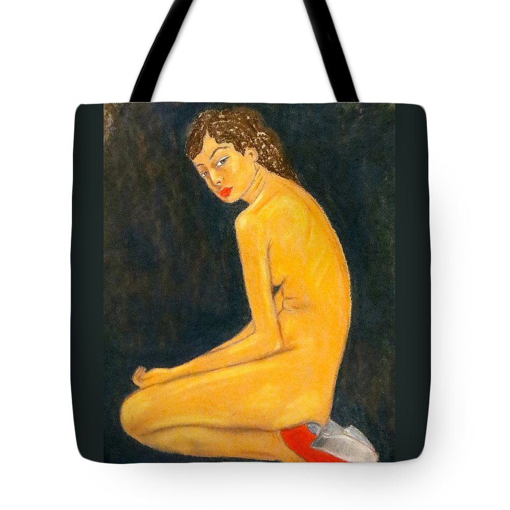 Female Nude Tote Bag featuring the photograph For The Birds by C Pichura