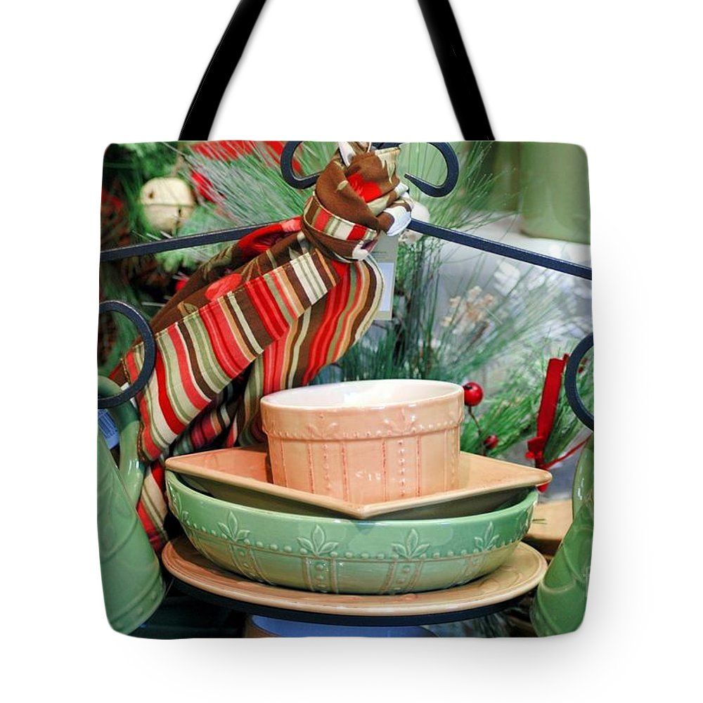 Green Tote Bag featuring the photograph For The Kitchen by Kathleen Struckle