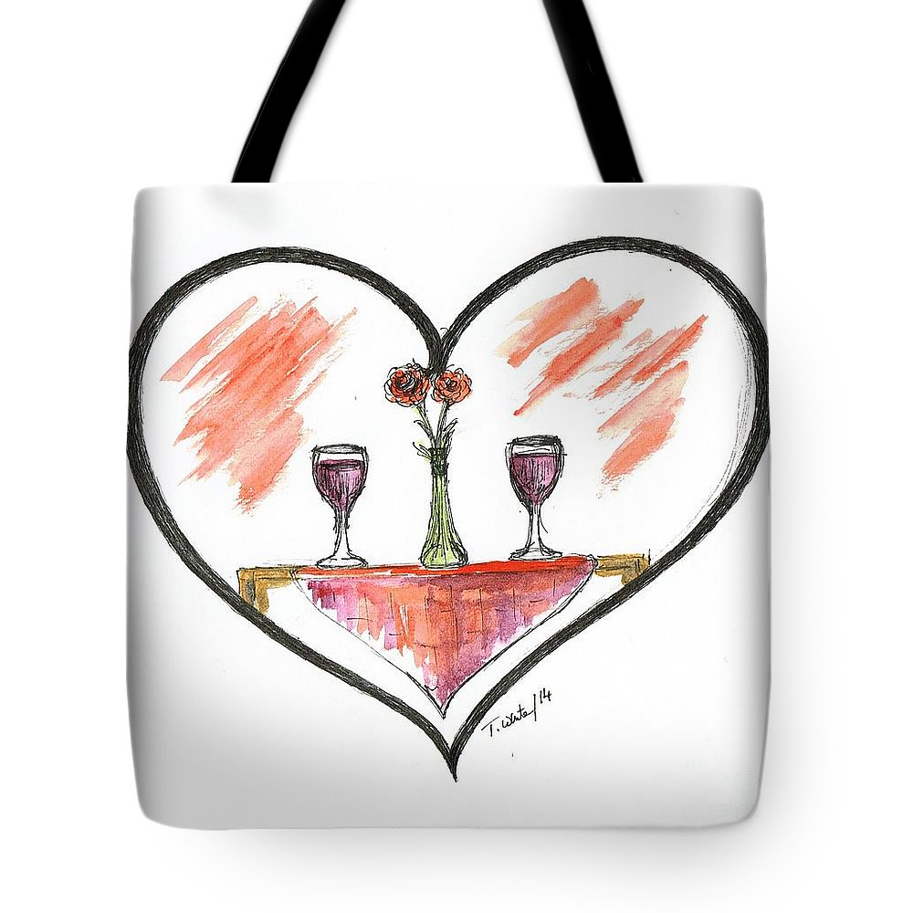 Teresa Tote Bag featuring the painting For Two by Teresa White