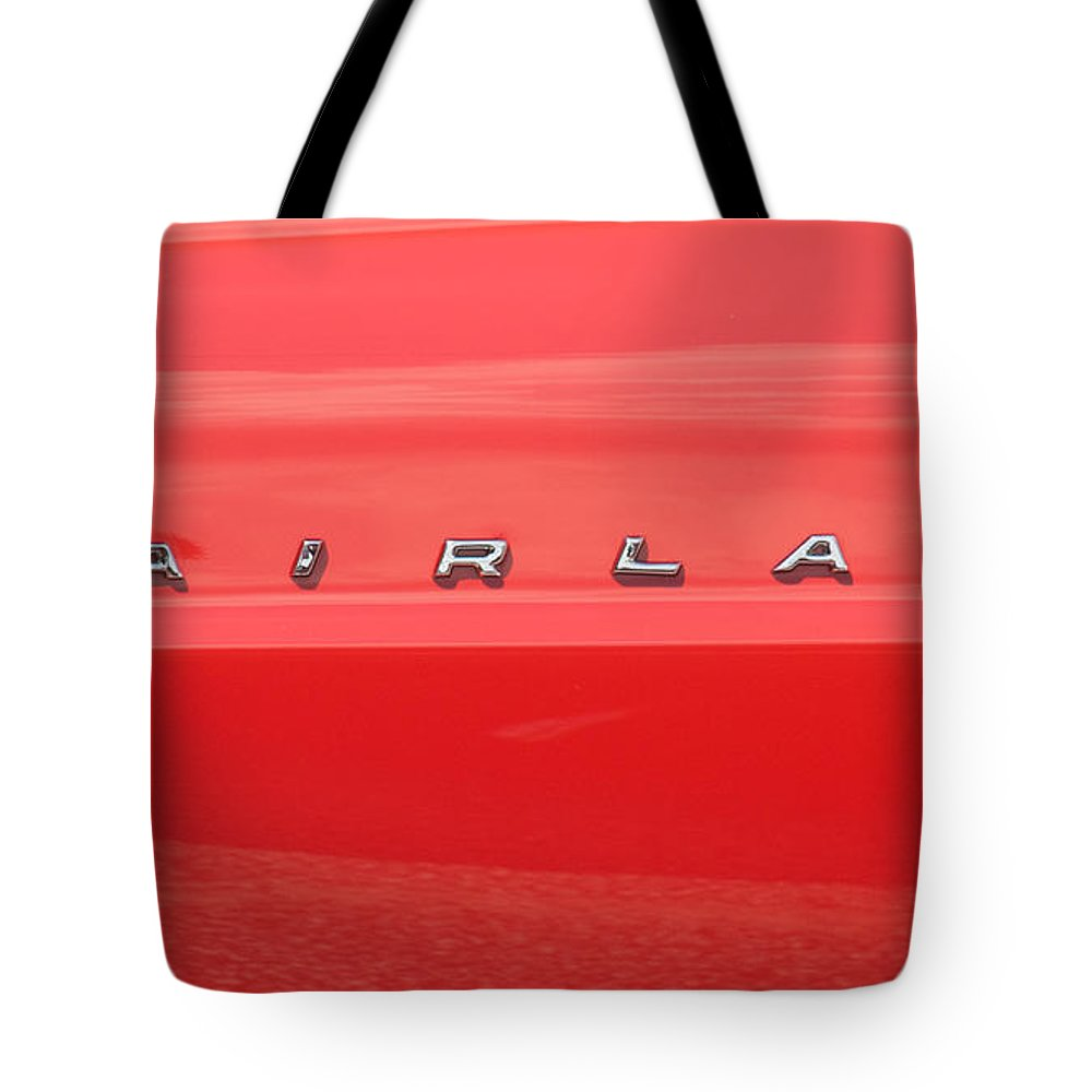 Car Tote Bag featuring the photograph Ford Fairlane Emblem by Mark Dodd