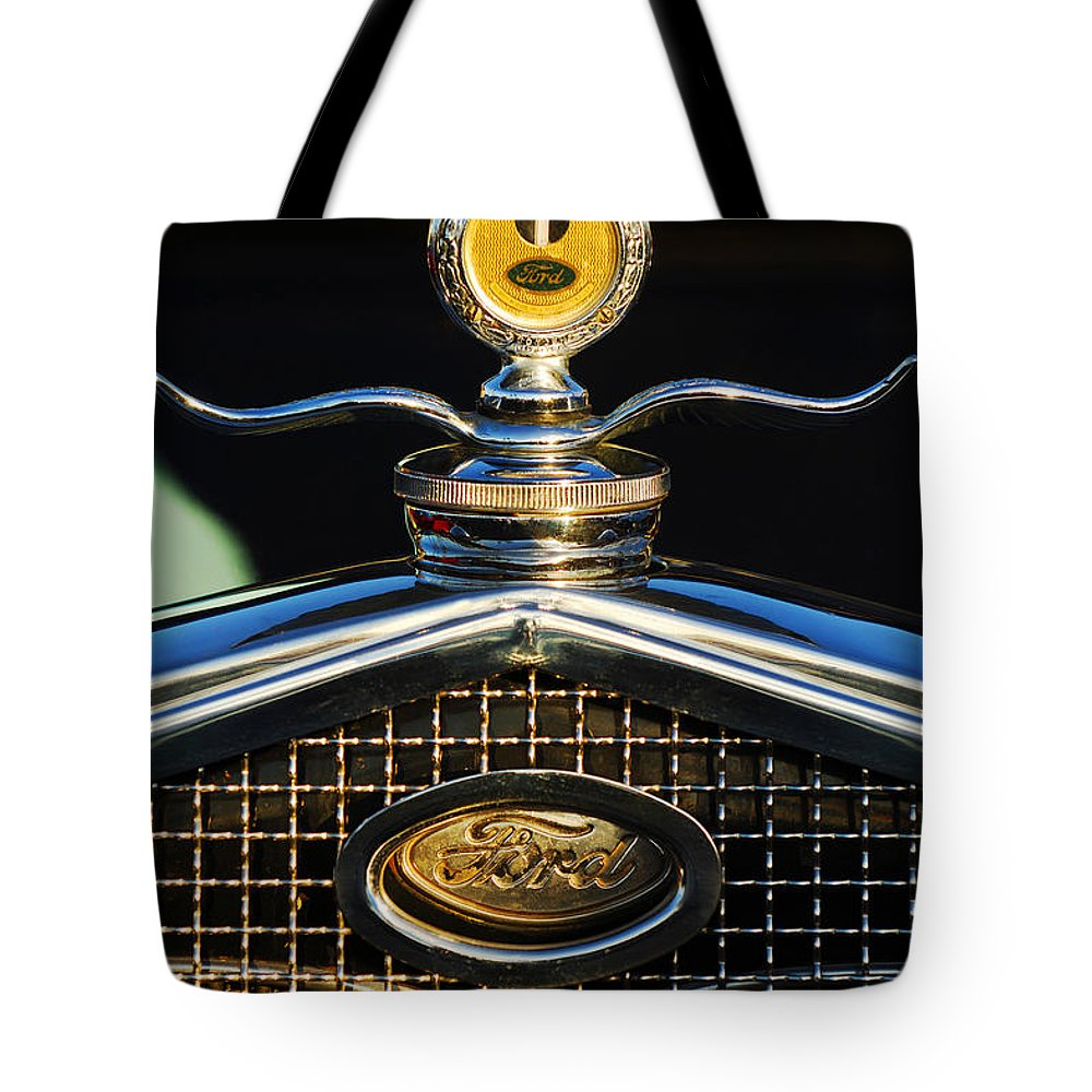 Ford Tote Bag featuring the photograph Ford Motometer by Jill Reger