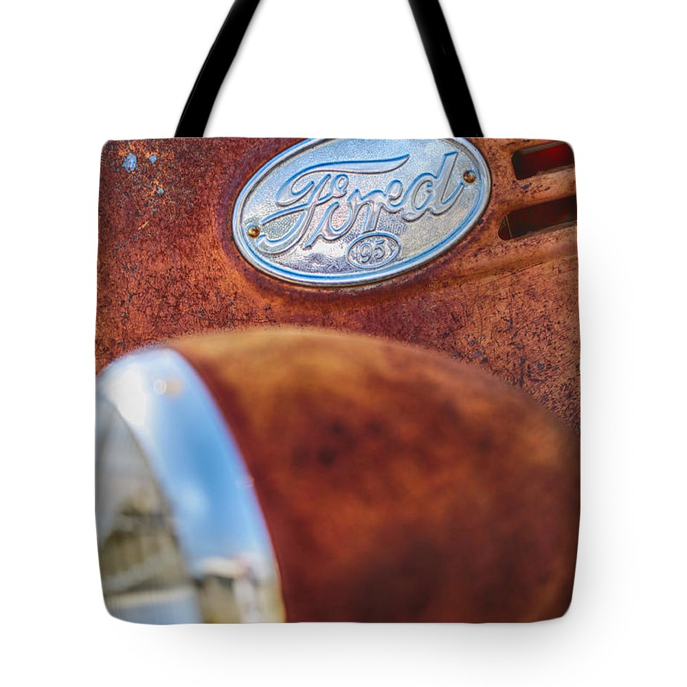 Ford Tote Bag featuring the photograph Ford Panel by Erika Weber
