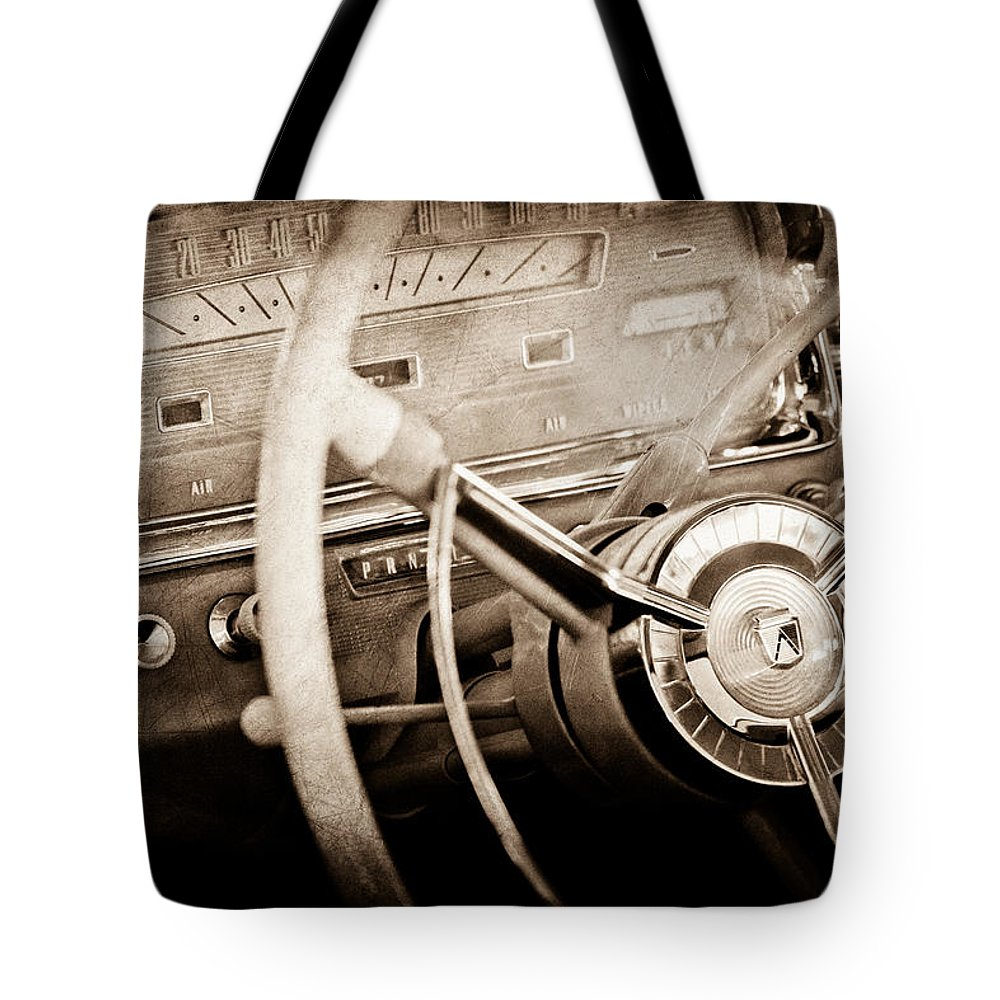 Ford Steering Wheel Emblem Tote Bag featuring the photograph Ford Steering Wheel Emblem by Jill Reger