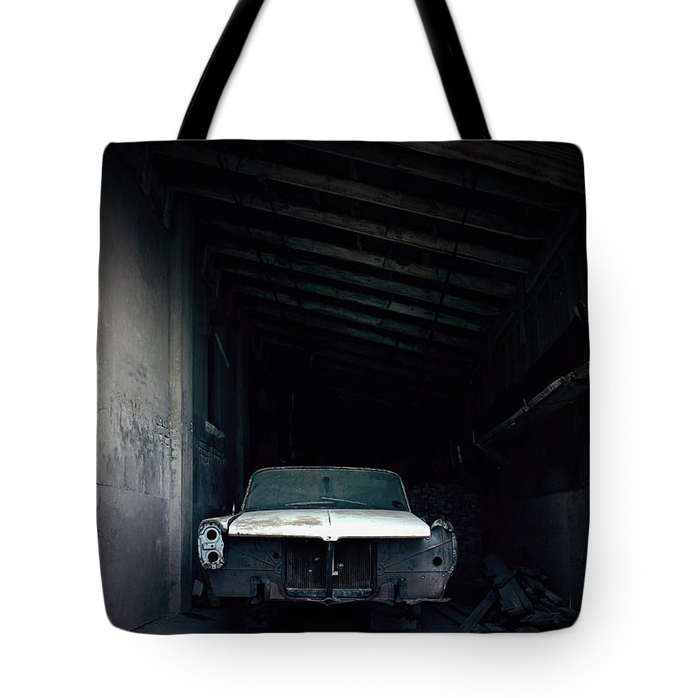 Car Tote Bag featuring the photograph Foresaken by Trish Mistric