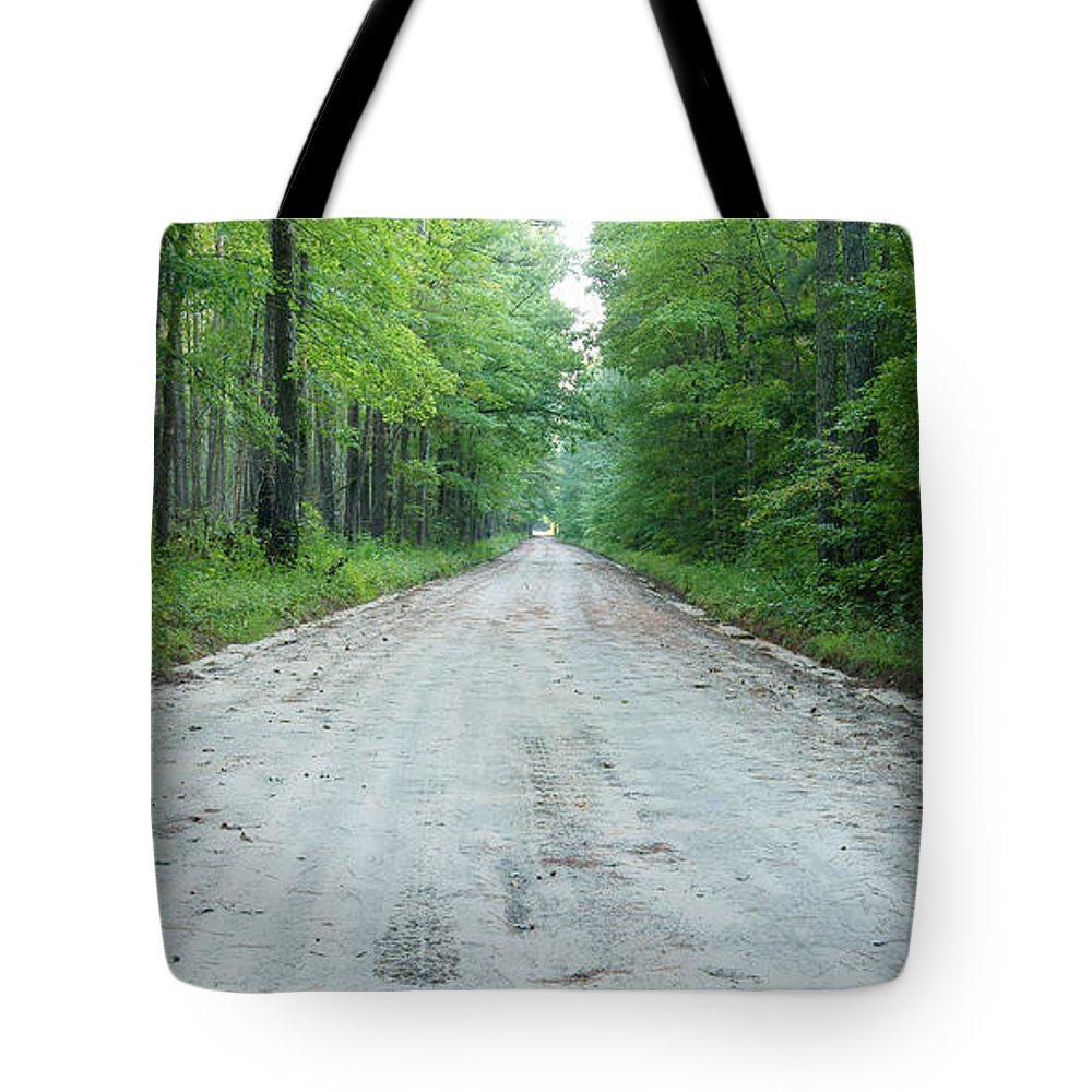 Road Tote Bag featuring the photograph Forest Lane by Benjamin Reed