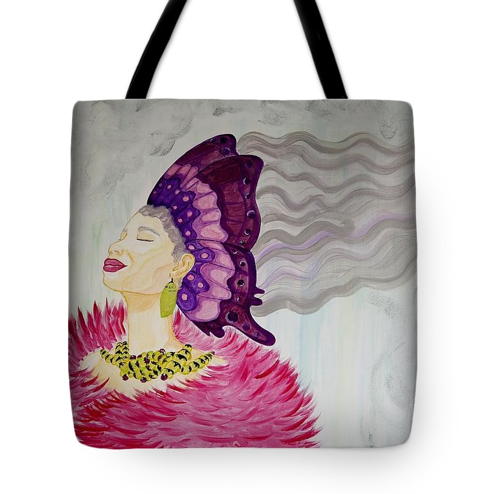 Aliya Michelle Tote Bag featuring the painting Forever Evolving by Aliya Michelle