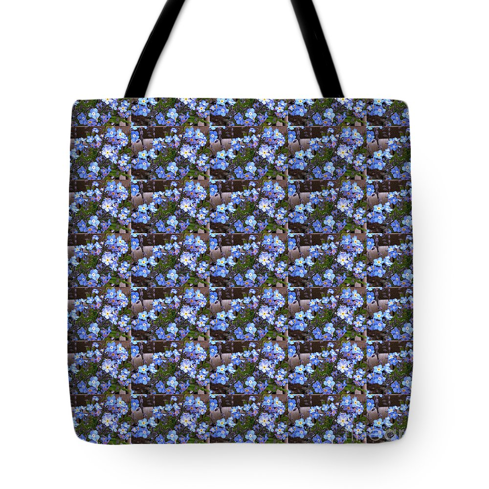 Forget Me Not Flowers Tote Bag featuring the digital art Forget Me Not Flowers by Barbara Griffin