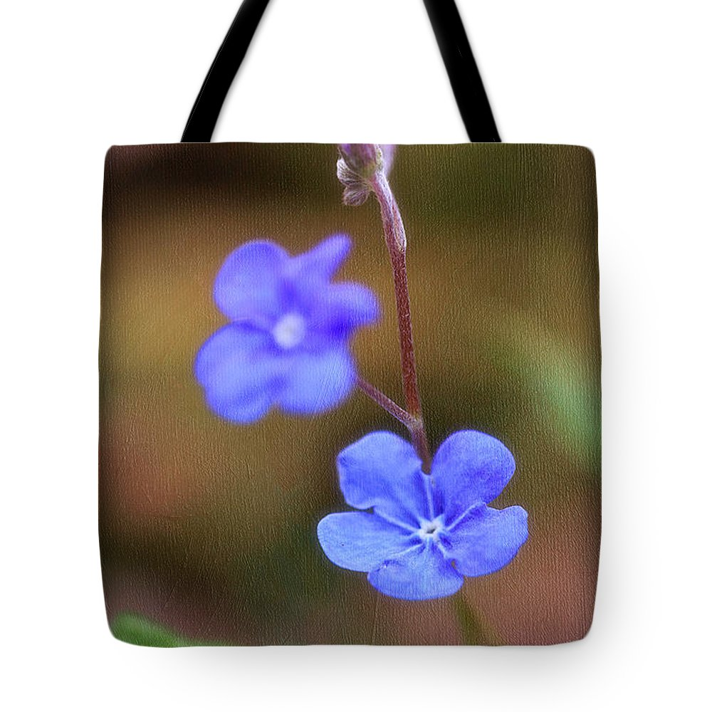 Flower Tote Bag featuring the photograph Forget Me Not by Fran Gallogly
