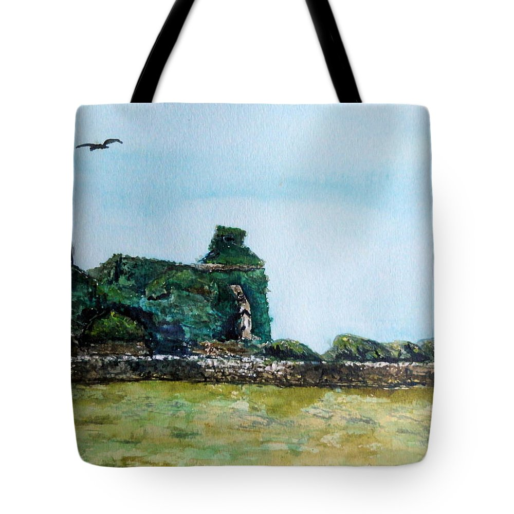 Ireland Tote Bag featuring the painting Forgotten Forlorn And Overgrown by Betty-Anne McDonald