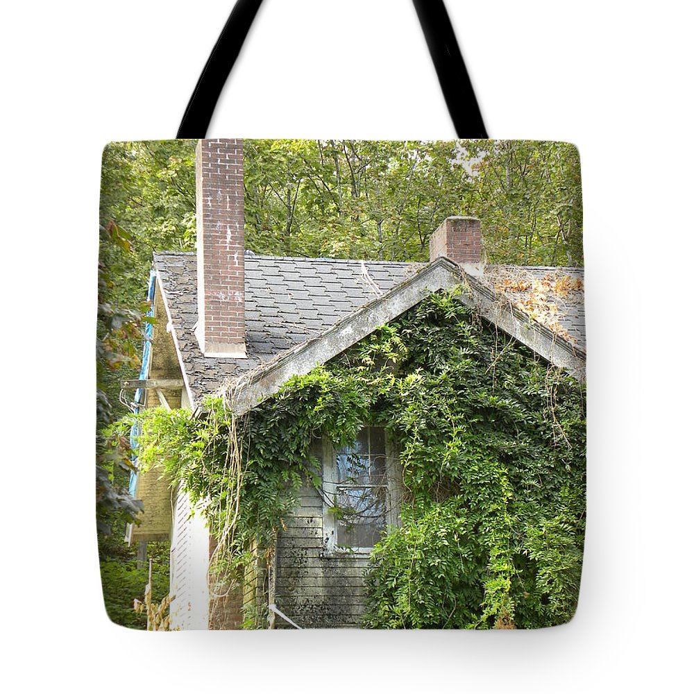 Home Tote Bag featuring the photograph Forgotten Home by Brigitte Mueller