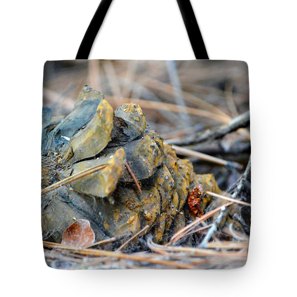 Nevada Tote Bag featuring the photograph Forgotten Pine Cone by Brent Dolliver