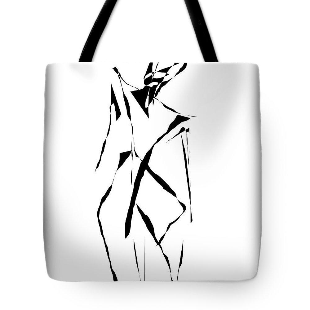Graphics Tote Bag featuring the digital art Form 091 Marucii by Marek Lutek
