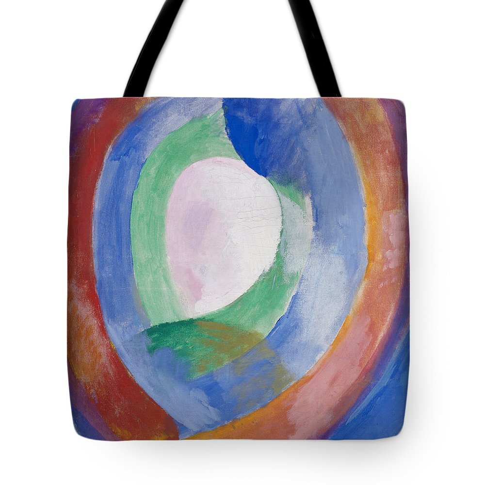 Robert Delaunay Tote Bag featuring the painting Formes Circulaires by Robert Delaunay
