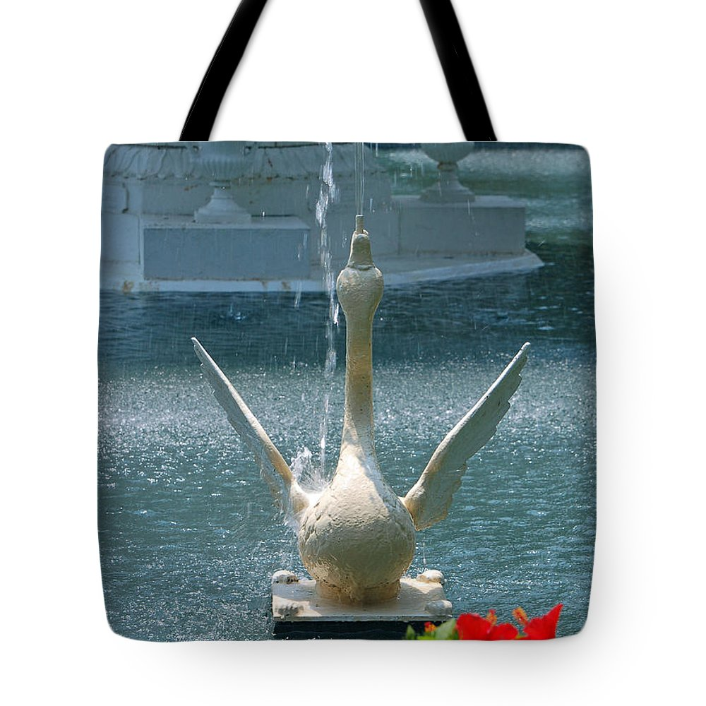 Forsyth Fountain Tote Bag featuring the photograph Forsyth Fountain II Detail In Savannah Georgia by Suzanne Gaff