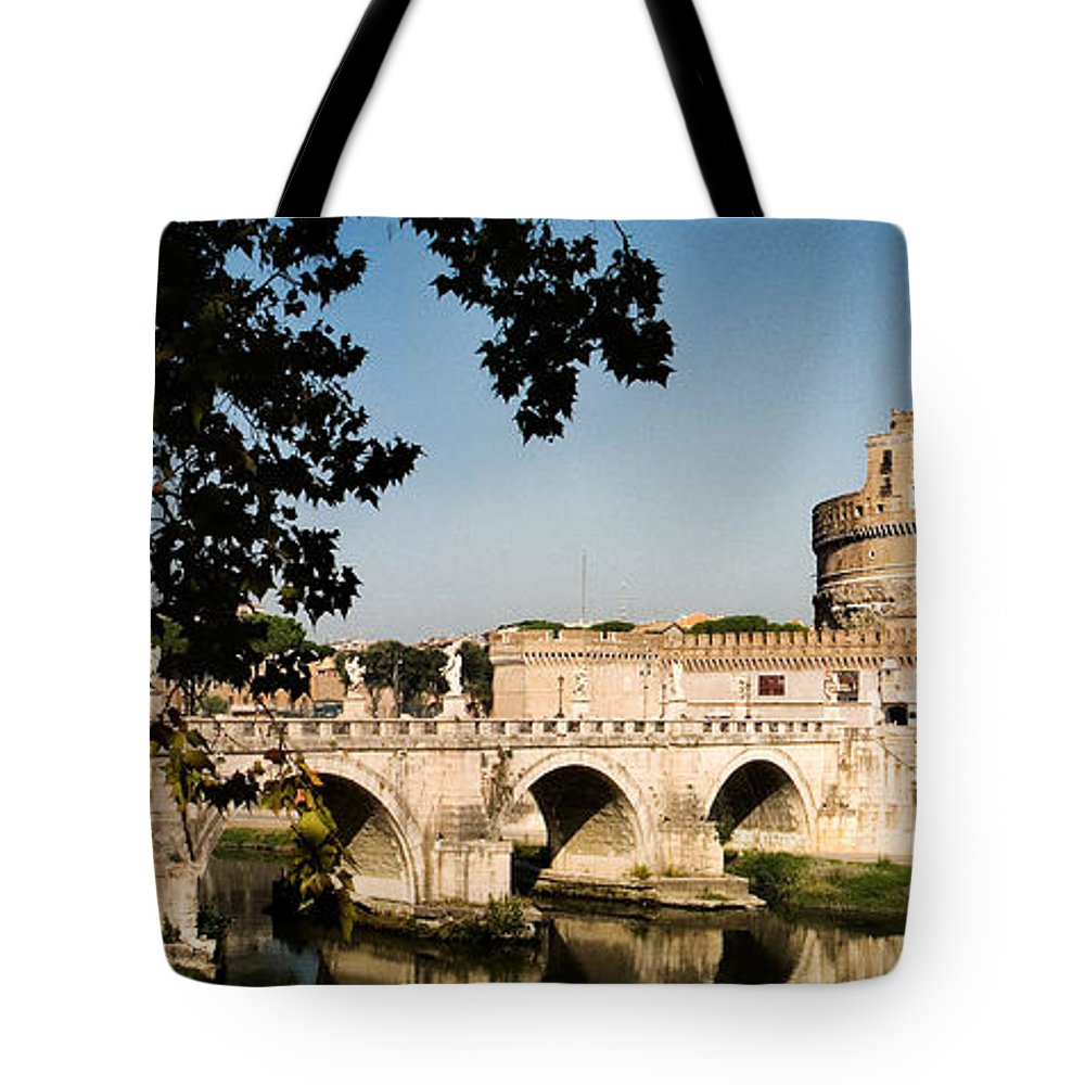 Fortress Tote Bag featuring the photograph Fortress And Bridge by Weston Westmoreland