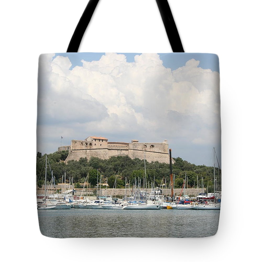 Harbor Tote Bag featuring the photograph Fortress And Harbor - Cote D'azur by Christiane Schulze Art And Photography