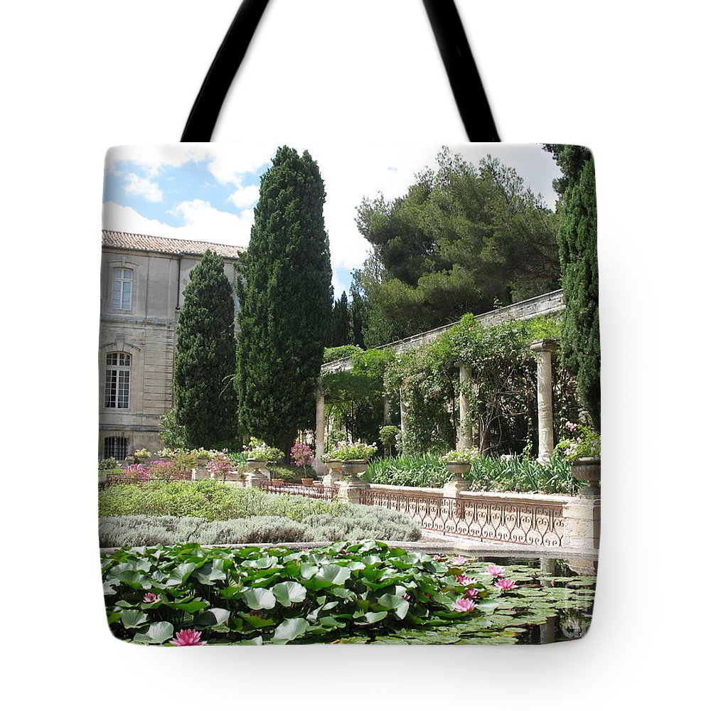 Fortress Tote Bag featuring the photograph Fortress Garden Villeneuve Les Avignon by Christiane Schulze Art And Photography