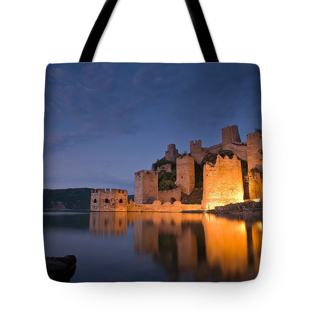 Landscape Tote Bag featuring the photograph Fortress Golubac by Davorin Mance
