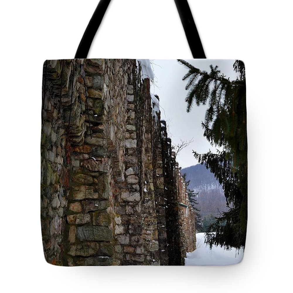 Walls Tote Bag featuring the photograph Fortress Walls by Kathy McCabe