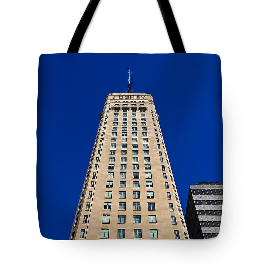 Foshay Tower Tote Bag featuring the photograph Foshay Tower by Rachel Cohen
