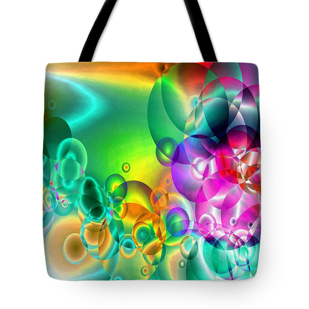 Abstract Tote Bag featuring the digital art Found 1 by Angelina Vick