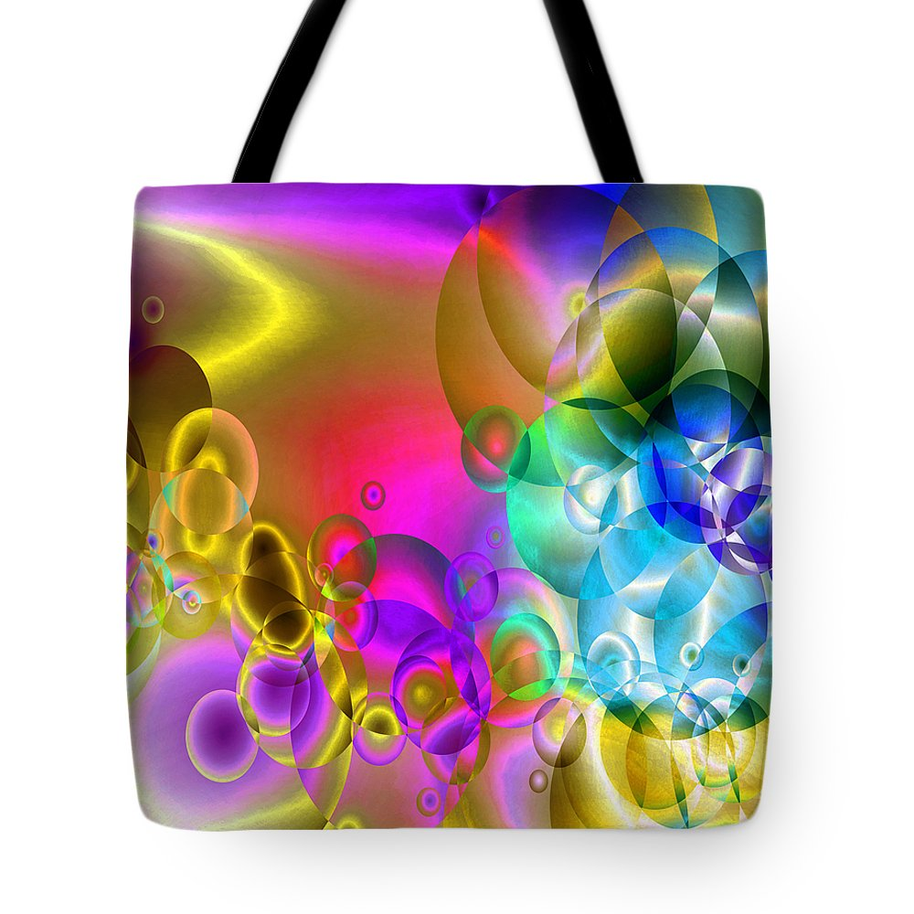 Abstract Tote Bag featuring the digital art Found 2 by Angelina Vick