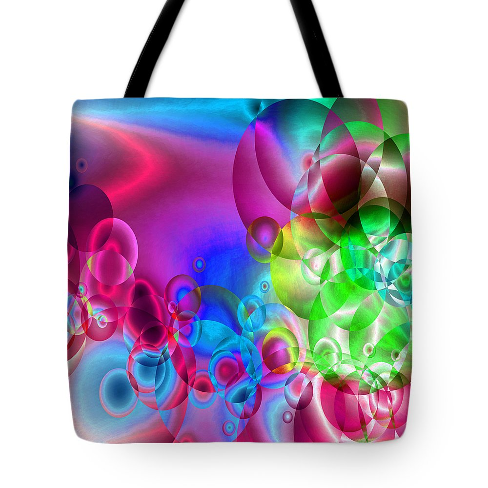 Abstract Tote Bag featuring the digital art Found 3 by Angelina Vick