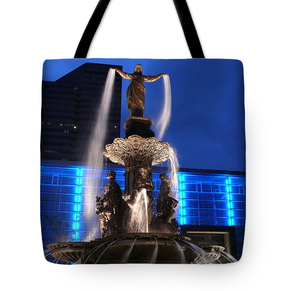 Tote Bag featuring the photograph Fountain by Kevin Jackson