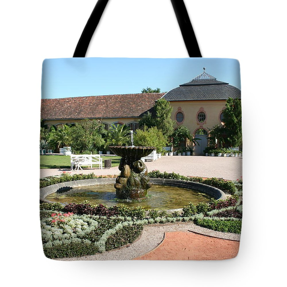 Fountain Tote Bag featuring the photograph Fountain - Orangery - Belvedere by Christiane Schulze Art And Photography