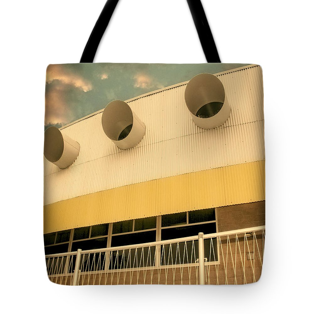 Palm Springs Tote Bag featuring the photograph Four By Sea Vintage North Shore Yacht Club Salton Sea by William Dey