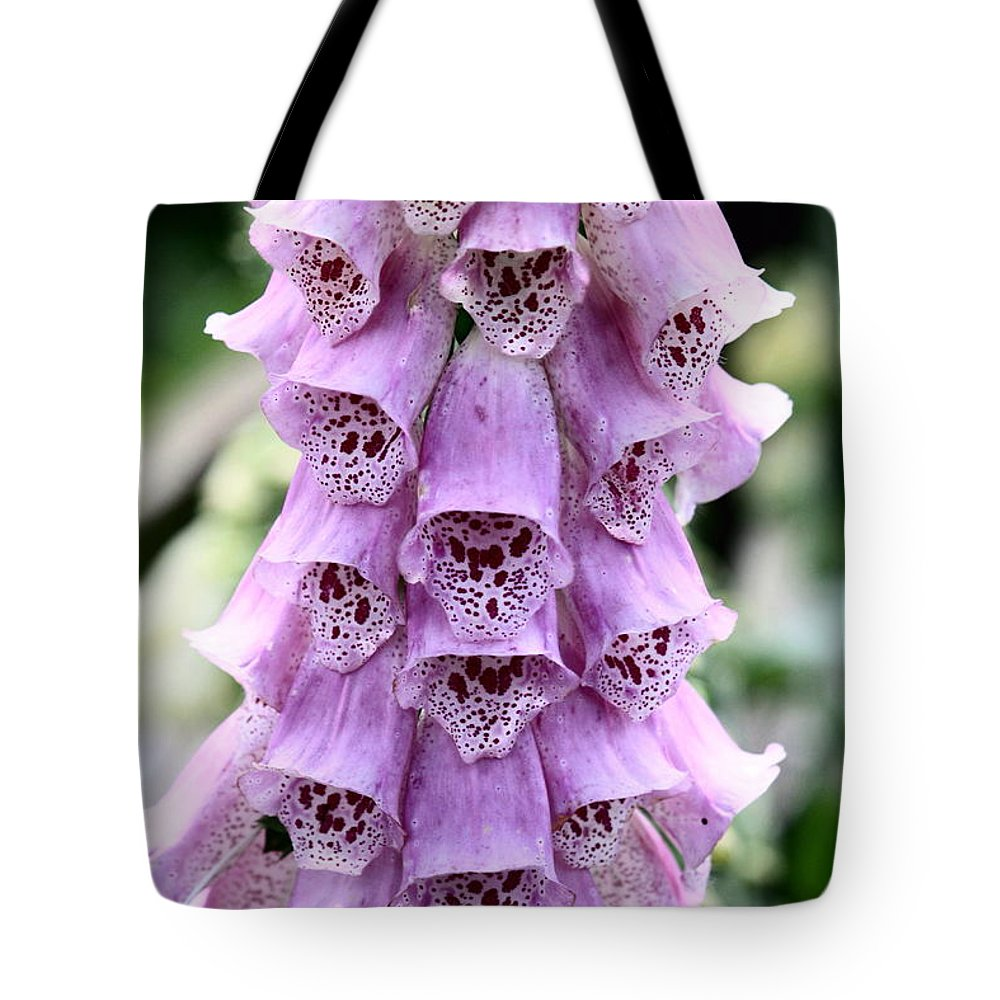 Fox Glove Tote Bag featuring the photograph Fox Glove Digitalis by Kevin F Cook