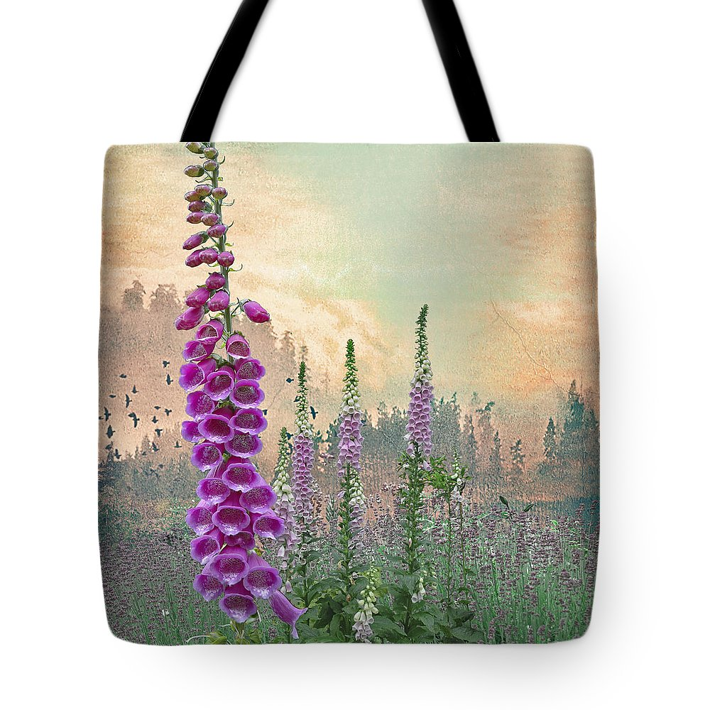 Flower Tote Bag featuring the photograph Foxglove In Washington State by Jeff Burgess