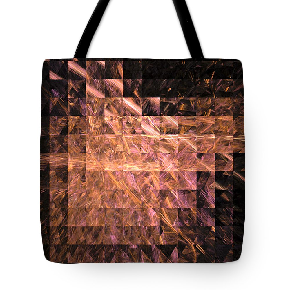 Fractal 064 Tote Bag featuring the digital art Fractal 064 by Taylor Webb