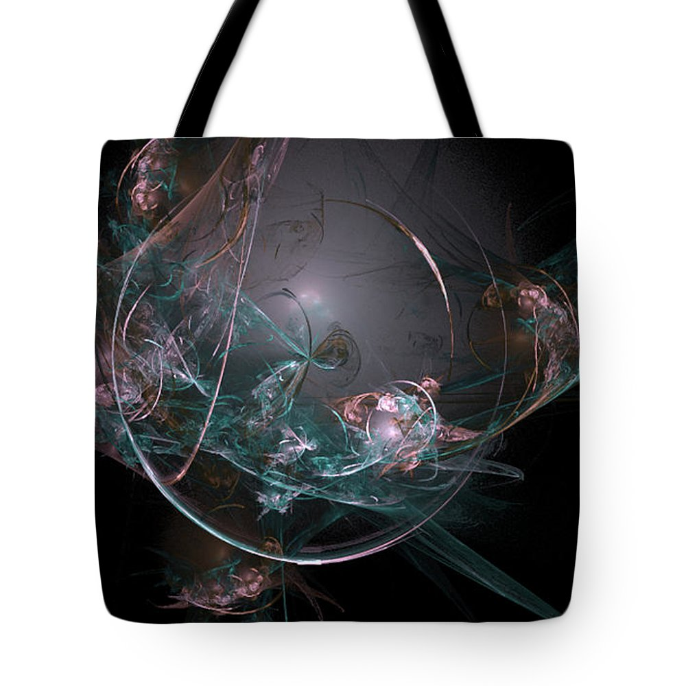 Fractal 073 Tote Bag featuring the digital art Fractal 073 by Taylor Webb