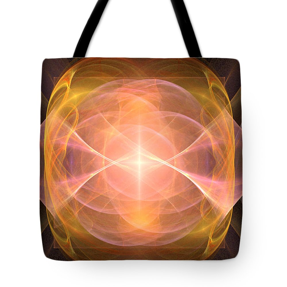 Fractal 094 Tote Bag featuring the digital art Fractal 094 by Taylor Webb
