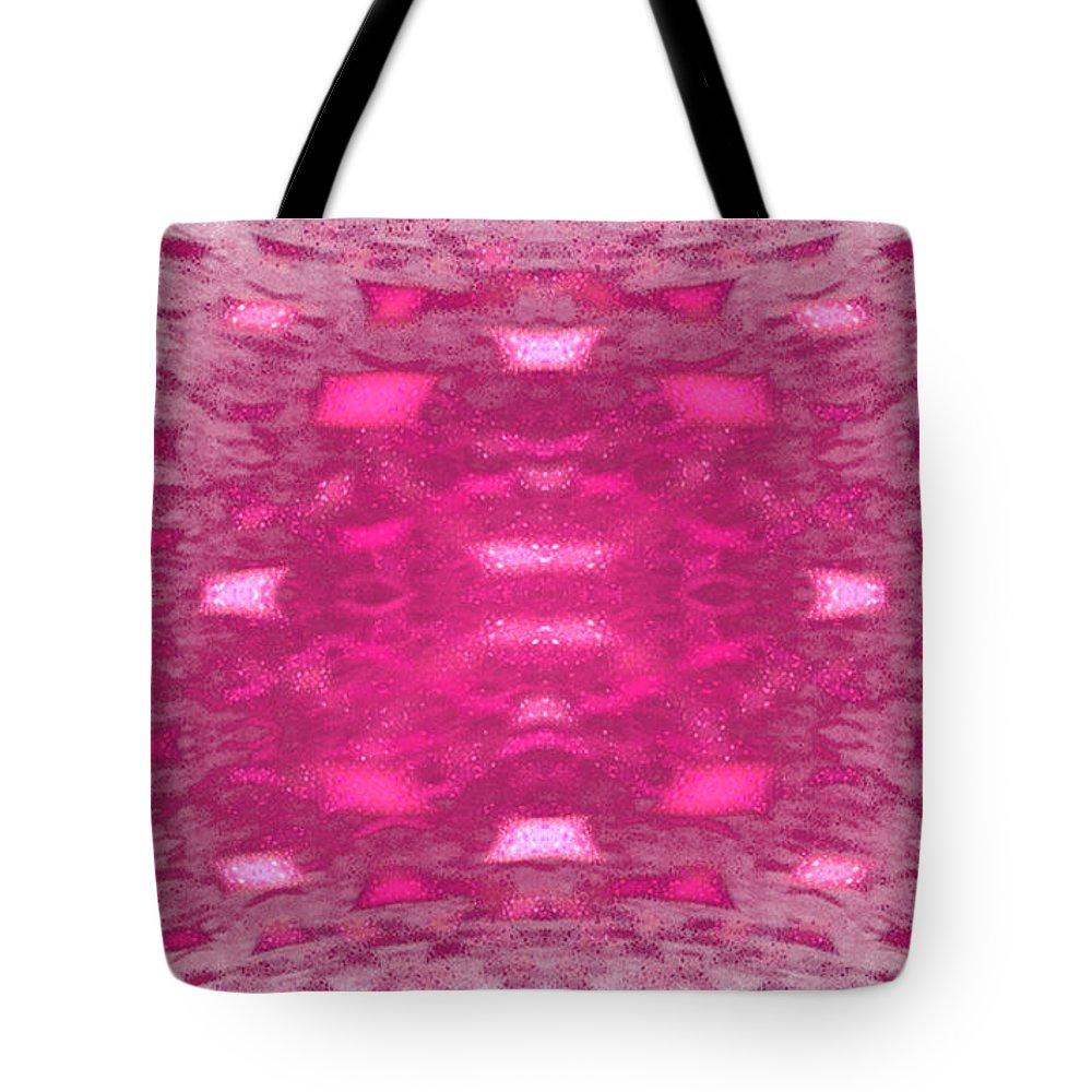 Fractal 095 Tote Bag featuring the digital art Fractal 095 by Taylor Webb