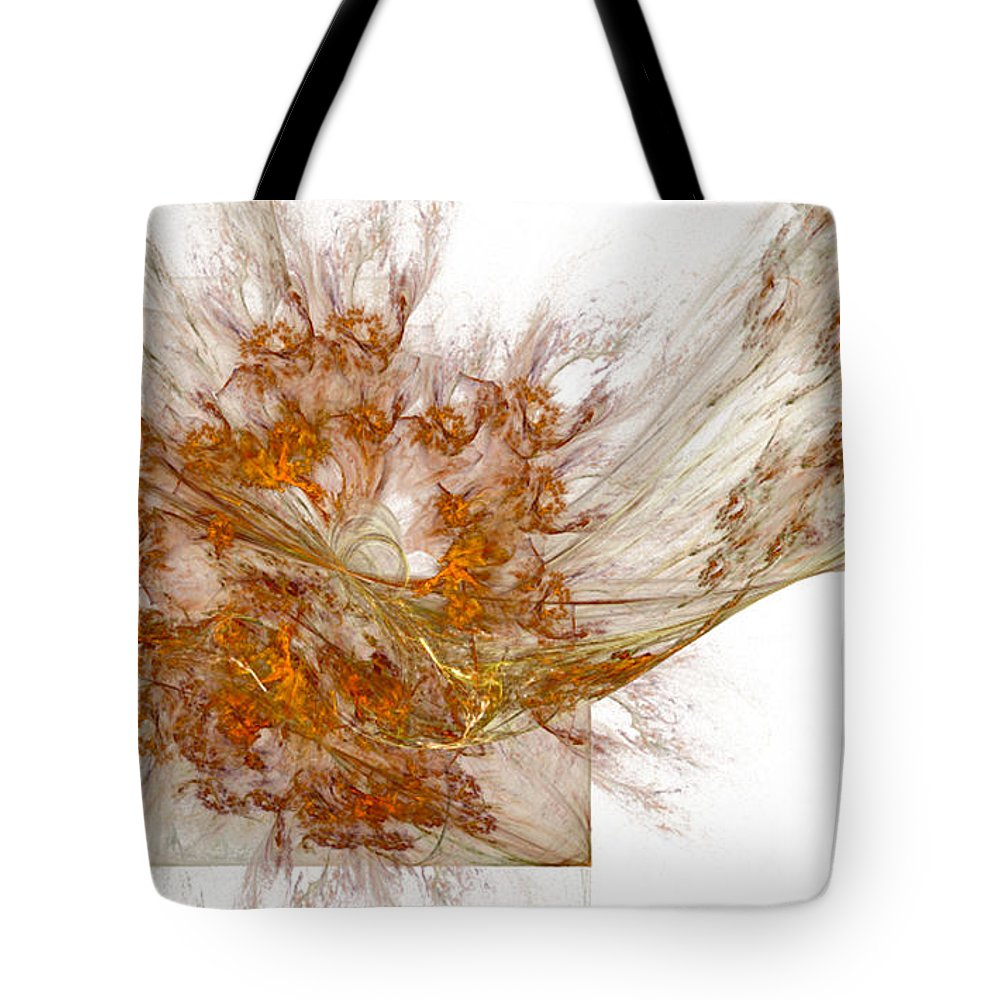 Fractal 101 Tote Bag featuring the digital art Fractal 101 by Taylor Webb